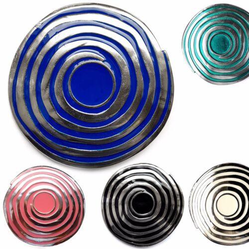 Gürtelschnalle Wechselschnalle  Kreis Buckle schwarz blau rot silber 4cm