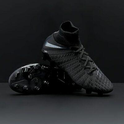 newest 33489 72e5b Nike Hypervenom Phantom 3 Elite FG JR Black Soccer Cleats AJ3791-001  w/Bag!! | eBay