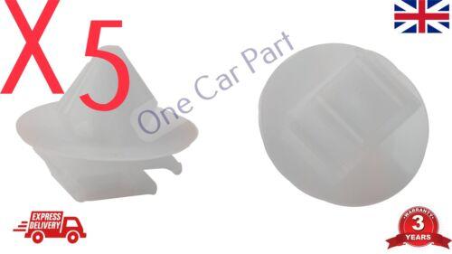 5x RENAULT MEGANE TWINGO PORTA TAGLIARE CLIP Striscia Laterale Stampaggio Plastica rubstrip