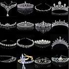 PO Bridal Wedding Crystal Flower Tiara Crown Pearl Rhinestone Hair Band Headband