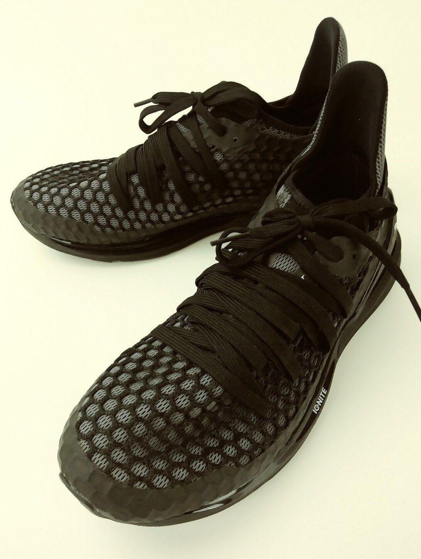 Puma zavvos scarpe incendiare ru 033-1 noi 8 nero grigio delle scarpe atletico pizzo