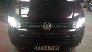 VW-T5-Transporter-T5-1-Faros-DRL-Niebla-Luz-Lateral-Delantero-conjunto-de-LED-Numero-De-Matricula