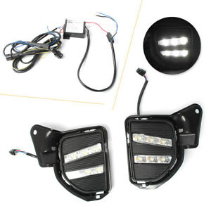 Pair LED Daytime Running Lights Turn Signal Lamp DRL for Toyota Hiace 200 14-17