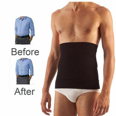 Men Fat Burner Tummy Tuck Belt Body Shaper Girdle Belly Slim Waist Trainer