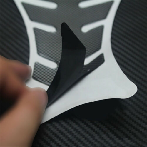 3D Carbon Fiber Motorcycle Oil Gas Fuel Tank Protector Fit Gel Pad Decal Sticker