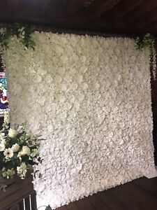 Flower Wall Backdrop Hire Only Whiteivory 8 Ft X 8ft London Ebay