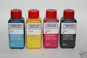 4x-100ml-True-Pigment-INK-Epson-DURABrite-NON-OEM-OCP-Refill-Ink-WorkForce
