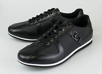 Nib. Versace Collection Black Leather Fashion Sneakers Shoes 9 Us 42 Eu $495 on sale