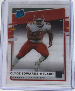 Clyde Edwards-Helaire 2020 Chronicles Clearly Donruss Rated Rookie RC Chiefs