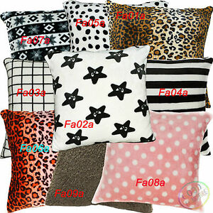Fa-Print-Pattern-Dot-Checker-Soft-Fleece-Cushion-Cover-Pillow-Case-Custom-Size