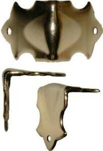 "LARGE Trunk Corner  D4434 1-3//8/"" x 1-3//8/"" x 1-3//8/"" Brass Plated"