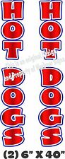 Hot Dogs Vertical Decal 40 X 6 Each Trailer Cart Concession Food Truck