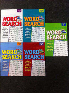 5-x-Word-Search-Book-Puzzle-Books-Volume-1-5-Brand-New
