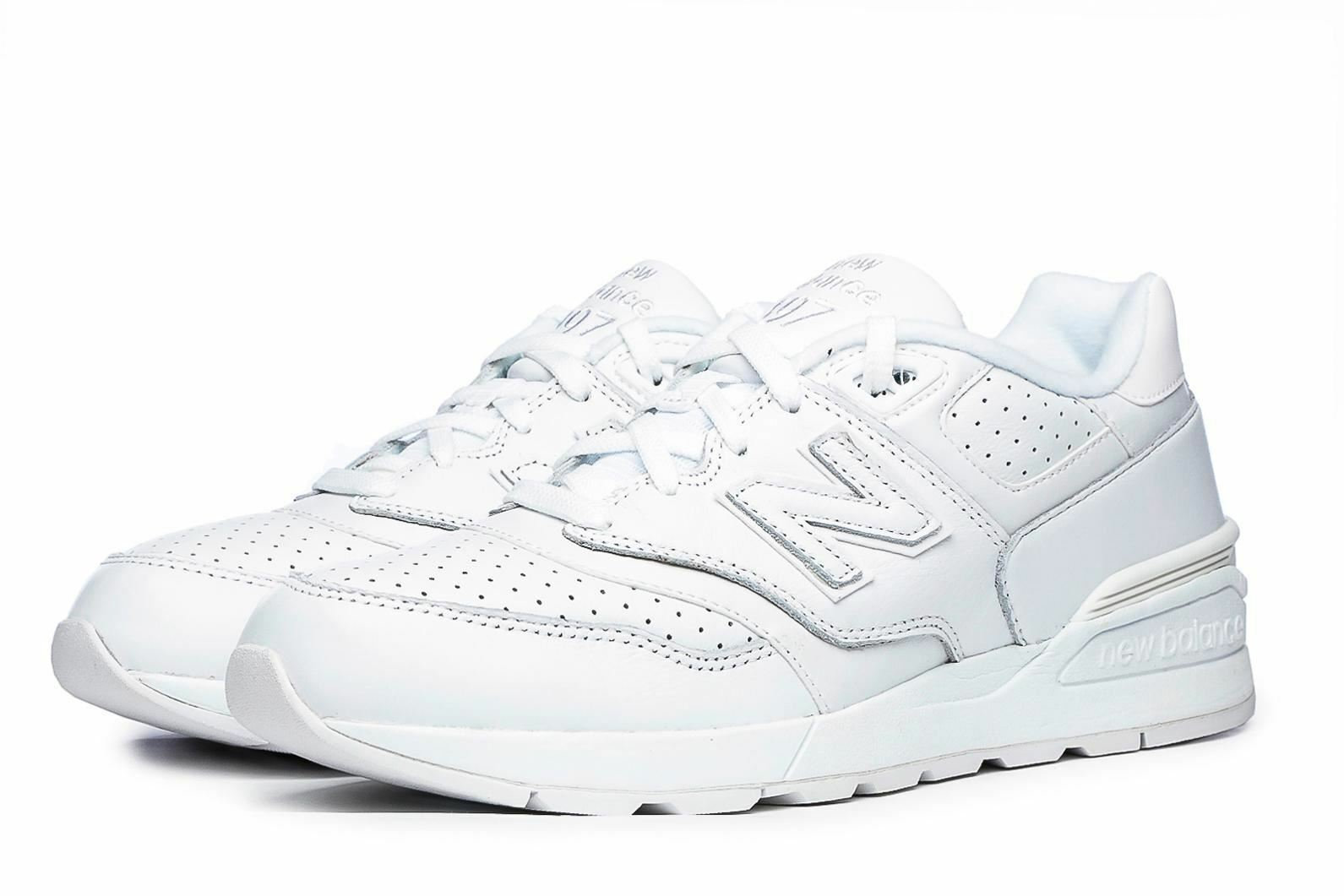 NEW BALANCE 597 TRAINERS WHITE SHOES LEATHER SPORTS MENS SNEAKERS RUN ML597WHL