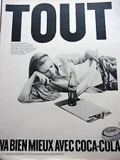 PUBLICITE de presse TOUT VA BIEN AVEC  COCA COLA  en 1968 ef. 22729