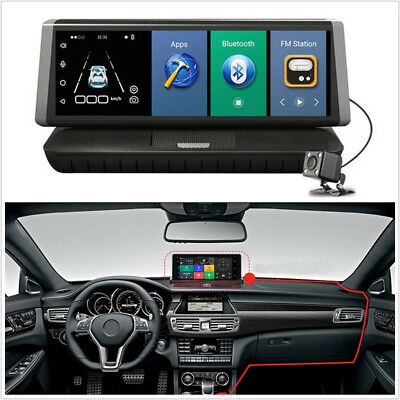 "8"" 4G Android Dual Lens Wifi GPS Full HD 1080P Car DVR Video Recorder ADAS Plus"