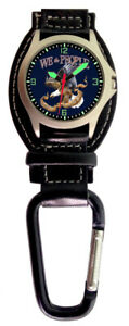 Aqua-Force-Right-to-Bear-Arms-Analog-Carabiner-Watch-30m-Water-Resistant