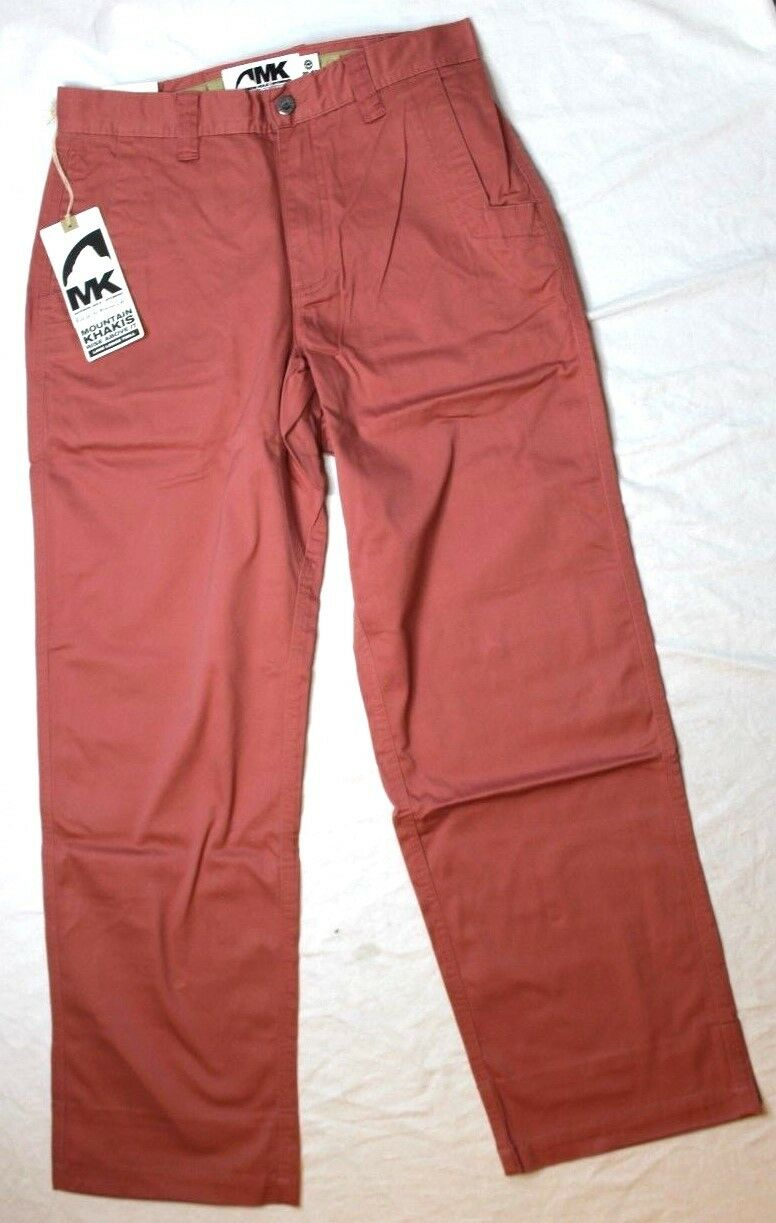 Mountain Khakis Men's Lake Lodge Twill Pant Relaxed Fit Red New NWT