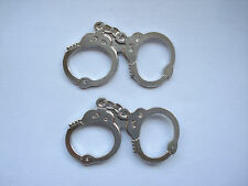 SALE VERY RARE VINTAGE HANDCUFFS POLICE FORCE HAITTS HOUDINI TRICK X2 PIN BADGE