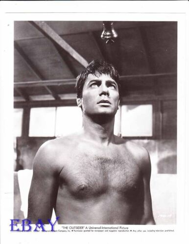 Tony Curtis barechested VINTAGE Photo The Outsider