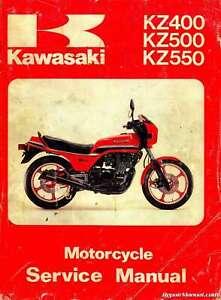 kawasaki kz400 kz500 kz550 motorcycle service manual | ebay  ebay