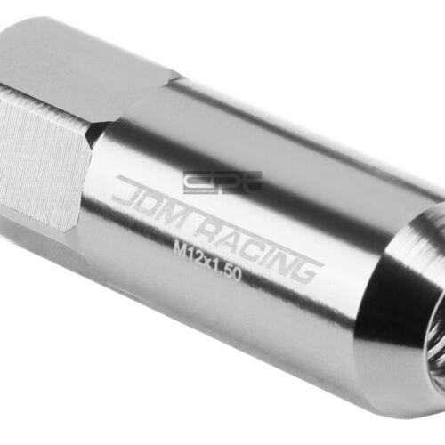 Fit Camry//Celica//Corolla Silver 20X 60Mm Rim Anodized Wheel Lug Nut+Adapter Key