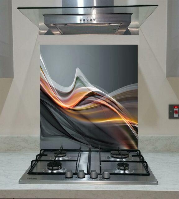 Black Granite Galaxy Toughened Glass Splashback 60cm Wide x 60cm High