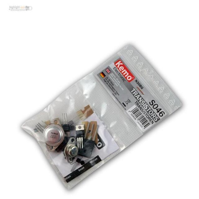 KEMO S046 Sortiment Transistoren TO3 / TO92 ca. 20 Stk, Transistor, Transistors