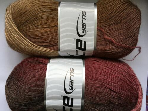 100 gram Alpaca Active Yarn #58418 Autumn Rose Fine Sport Weight 601yds 1