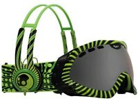 Dragon Goggles Mace Skull Candy 4 Green - Ionised Lens Medium/large Fit
