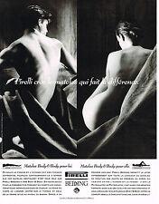 PUBLICITE ADVERTISING 094  1992  PIRELLI BEDDING matelas BODY& BODY
