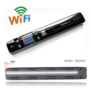 Details About Senniao Sn910w Handy Portable Scanner Double Roller Wifi Wireless Mini Scanner