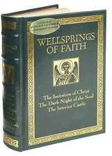 WELLSPRINGS OF FAITH ~ LEATHER BOUND ED ~ RARE & OUT OF PRINT ~ CHRISTIAN GIFT