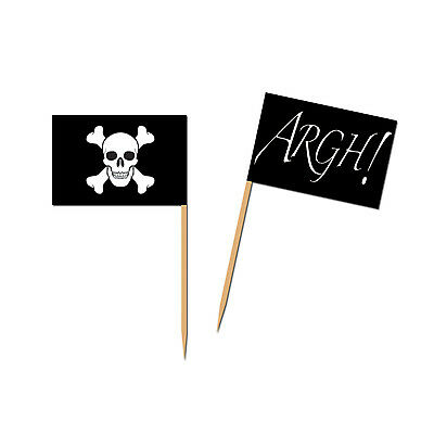 Picks Pirate Flag 6cm x50 BE60105 Argh!kids themed party,party decoration cake