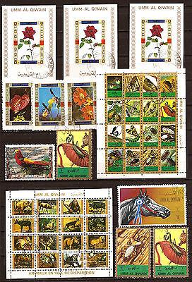 77t1 Umm El Kiwain 5blocs+ 8 Briefmarken Entwertet, Tiere,insekten,blumen Gut FüR Energie Und Die Milz