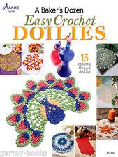 A Baker's Dozen Easy Crochet Doilies Pattern Instruction Book Annie's Attic NEW