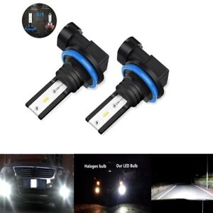 H8-H9-H11-H16-6000K-Super-White-8000LM-72W-CSP-LED-Headlight-Bulbs-Kit-Low-Beam