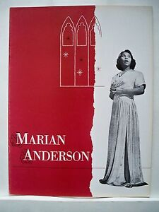 Image Is Loading MARIAN ANDERSON Concert Souvenir Program S HUROK 1954
