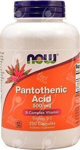 acido-pantotenico-vitamina-B5-500mgx250-Acne-Alivio