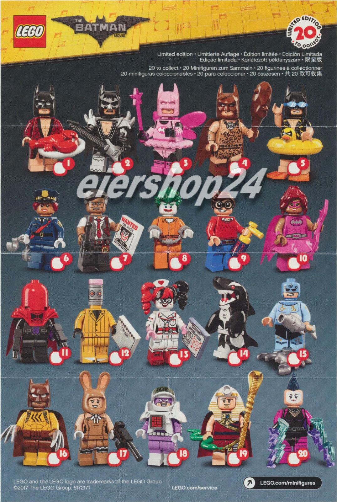 Complet jeu LEGO ® minifiguren minifiguren minifiguren BatFemme Movie #71017 toutes les 20 fig. complet NEUF 299379