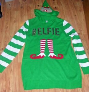 Ugly Christmas Dress.Details About No Boundaries Ugly Christmas Elfie Long Sweater Dress Sequence Junior S 3 5