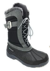 de neige Spirale Bottes Femme Canadiennes Noir Bottes Bella Bottes Bottes d'hiver IBHqT7