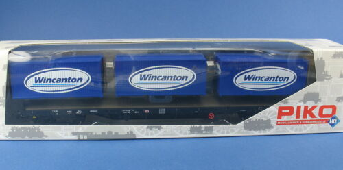 Flachwagen Rgs670 Wincanton Werbemodell Container-Tragwagen PIKO H0 54818
