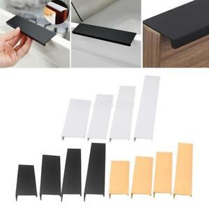 Aluminium Cabinet Hardware Concealed Hidden Finger Pull Handles Kitchen Door Ebay
