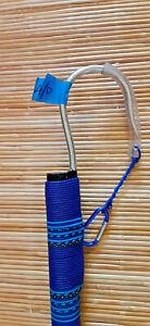 CUSTOM CALCUTTA BAMBOO GAFF 4/0 MUSTAD HOOK -6 FT, BLUE/TEAL - #21/30-6-4