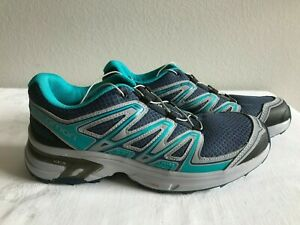 Details about Salomon Wings Flyte 2 Trail Running Shoes Contagrip Sole 9.542 grey turq India