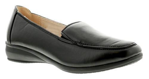 Womens//Ladies Black Loafer Style Casual Shoes UK Size