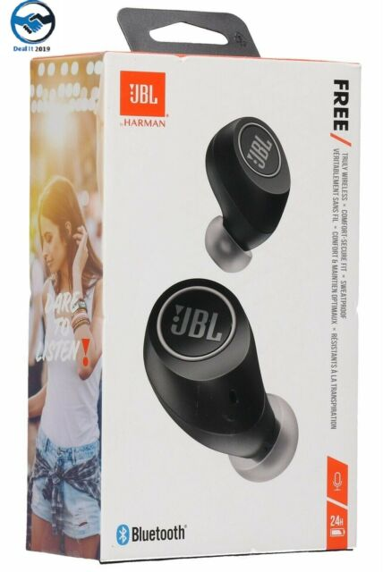 JBL Free X Truly Wireless Bluetooth In-Ear Headphones - Black
