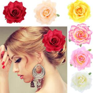 Artificial-Rose-Flower-Hair-Clip-Pin-Brooch-Hairpin-Bridal-Wedding-Headdress