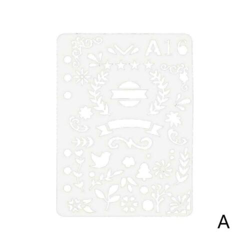 Bullet Journal Stencil Plastic Planner Craft Drawing Decor Template Diary N U5N9